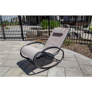 Vivere Rocking chair Wave Rocker - Aluminum - Macchiato/Dark Grey