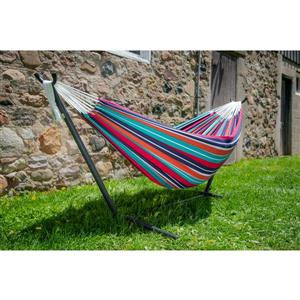 Vivere's Double Hammock plumeria with Stand - 9'