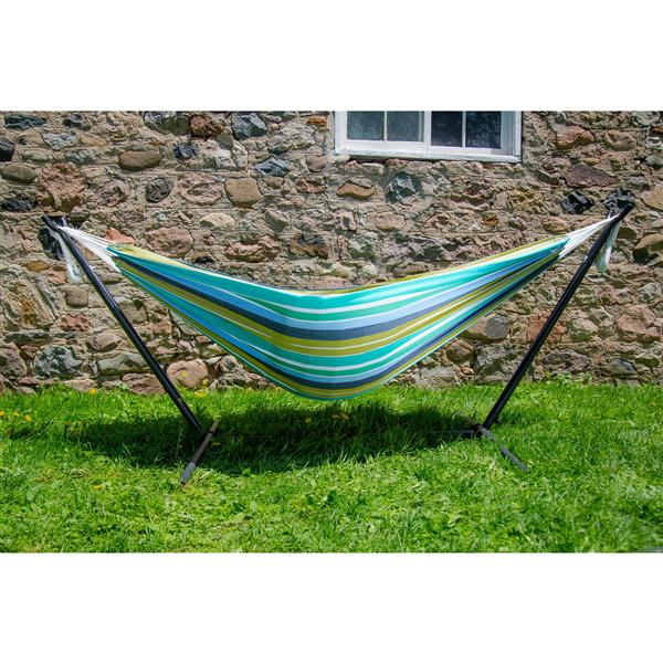 Vivere Combo - Double Cayo Reef Hammock with Stand - 9-ft