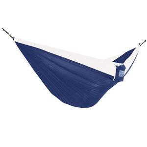 Vivere Parachute Hammock Double - Navy/White - 128-in