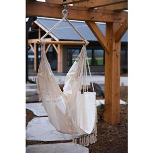 Vivere Brazilian Hammock Chair - Natural - 30-in