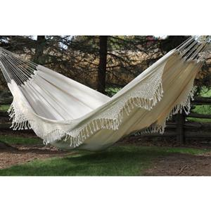 Vivere Brazilian Style Double Deluxe Hammock - Natural - 12-ft