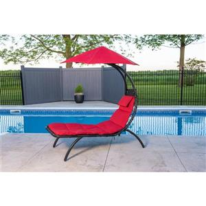 Vivere The Original Dream Lounger ™- Cherry Red - 72-in