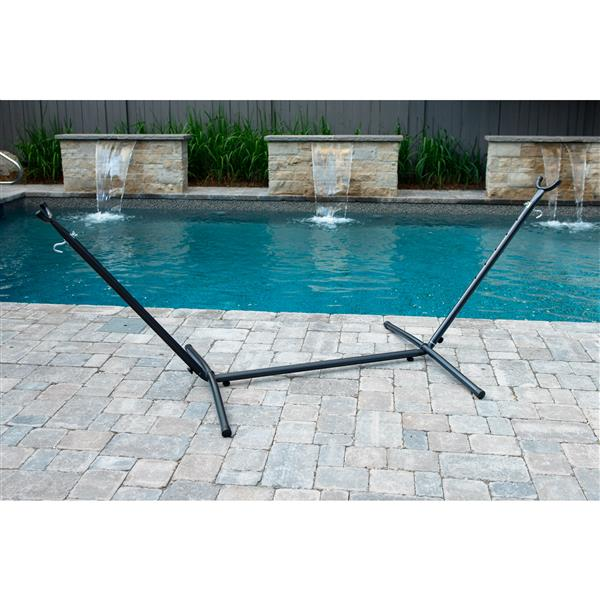 Vivere Universal Hammock Stand - Charcoal - 9-ft