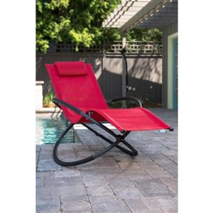 Orbital Single Lounge chair - Cherry Red