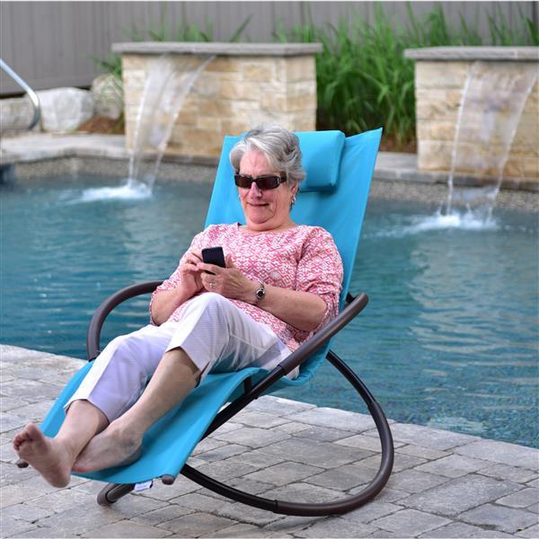 Chaise longue orbital Vivere, Turquoise