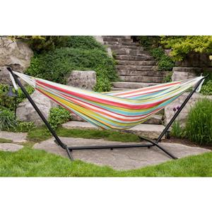 Vivere Double Polyester Hammock with Stand