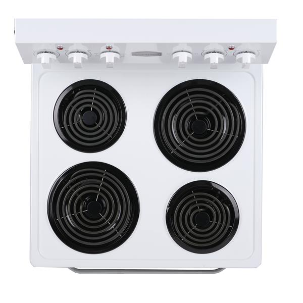 Marathon 24-in 4-Element Coil Top Electric Range (White)