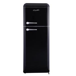 Epic Retro Top Mount Refrigerator -  Black - 7.5 cu.ft.