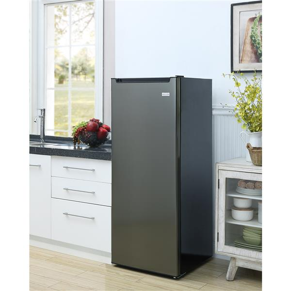 Marathon 8.6 cu. ft. All Refrigerator in Black Steel