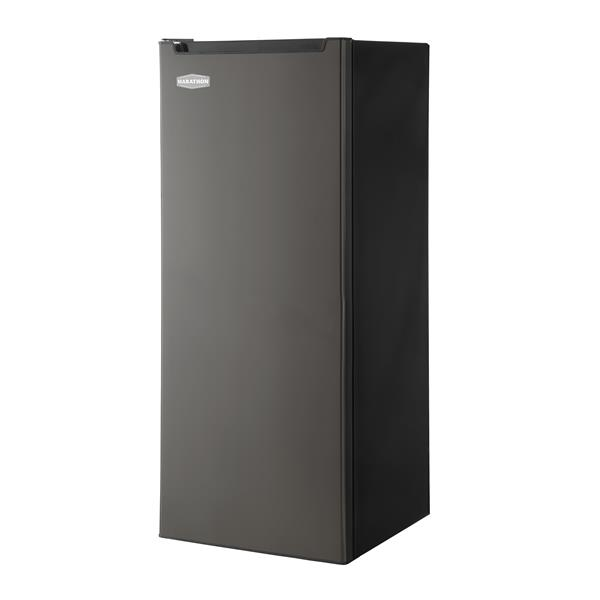 Marathon 6.5 cu.ft. Upright Freezer in Black Steel