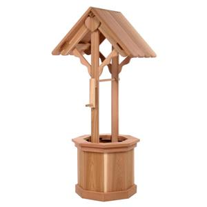 All Things Cedar Wishing Well with Lid - 5 ft.