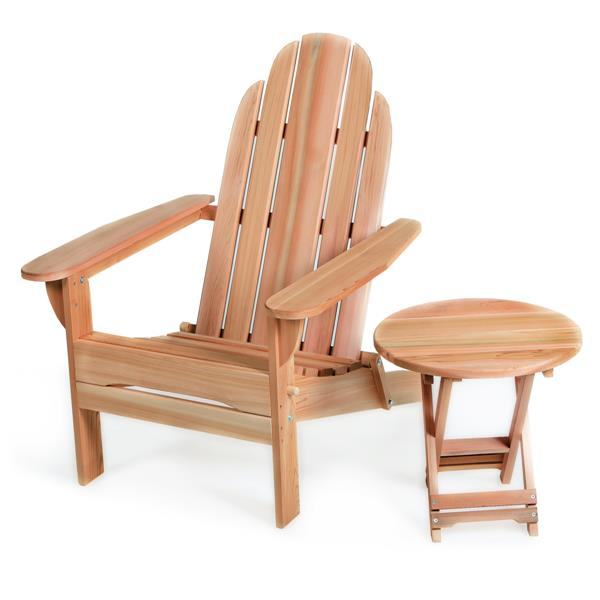 All Things cedar Adirondack Folding Set - 2 Pieces