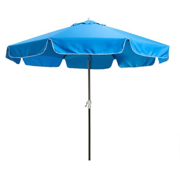 Parasol pour le patio octogonale, Bleu, 10'