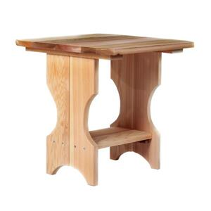 All Things Cedar Adirondack Magazine Table - Natural - 21""