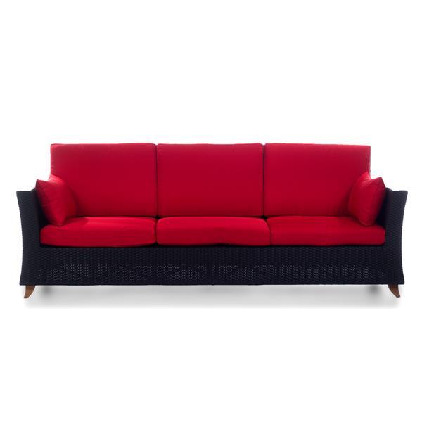"""Sofa extérieure de All things Cedar, Brun et rouge, 92"""""""