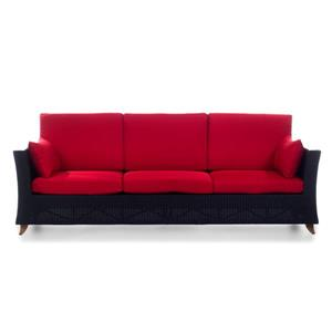 All Things Cedar Outdoor Sofa - Brown and Red - 92