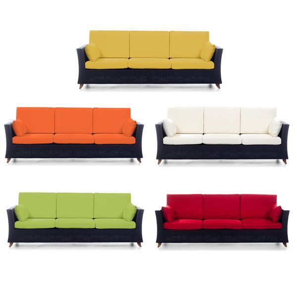 "Sofa d'extérieure All Things Cedar, Brun et blanc, 92"""
