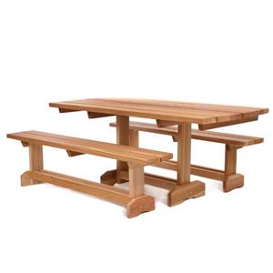 All Things Cedar 8-Person Patio Picnic Table Set