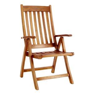 Ensemble de 4 chaises et une table en teck, 5 pièces