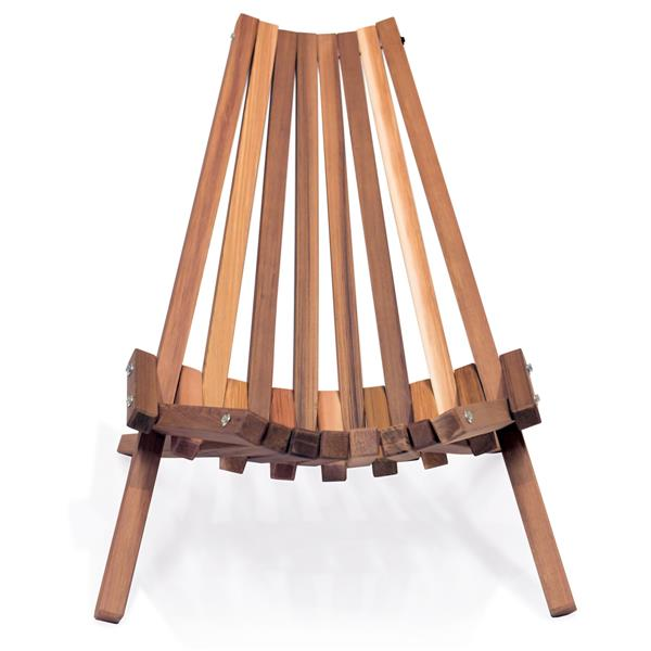 Chaise pour le patio fait de bâton de cèdre, Naturel