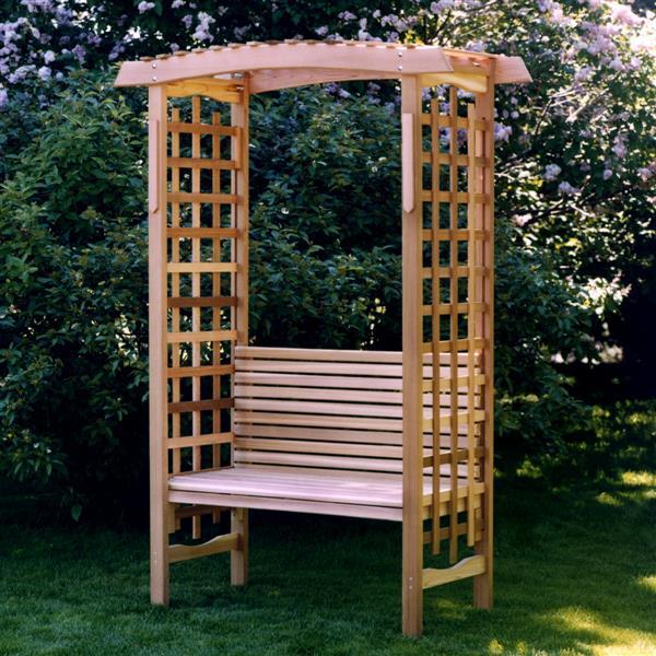 ALL THINGS CEDAR Tonnelle de jardin avec banc GA87-B | RONA