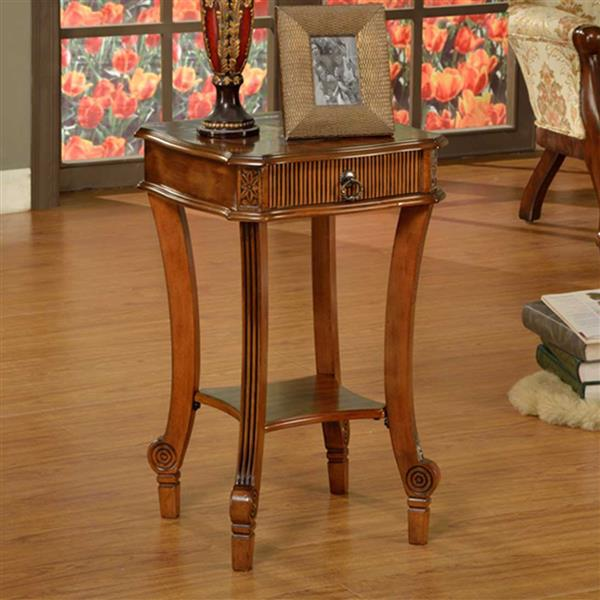 All Things Cedar Designer End Table - Cherry -16.5-in x 17-in
