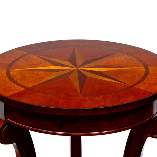 "Table ronde All Things Cedar de style Pub, Cerise, 18"""