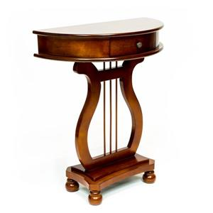 Table de harpe demi-lune