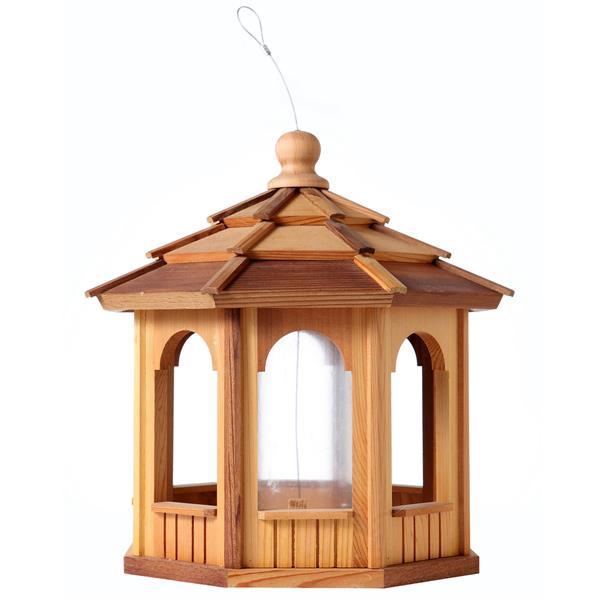 Mangeoire à oiseaux octagon en cèdre