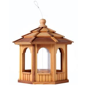 All Things Cedar Octagon Cedar Birdfeeder
