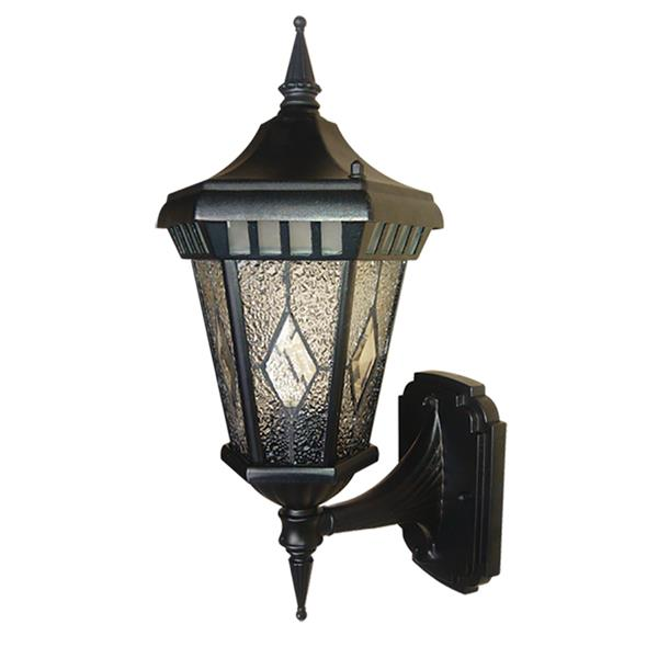 Beldi Verbier Outdoor Light Hammered Glass Black 1315 Wup Rona