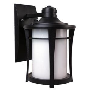 Luminaire extérieur Cleveland, verre blanc, noir