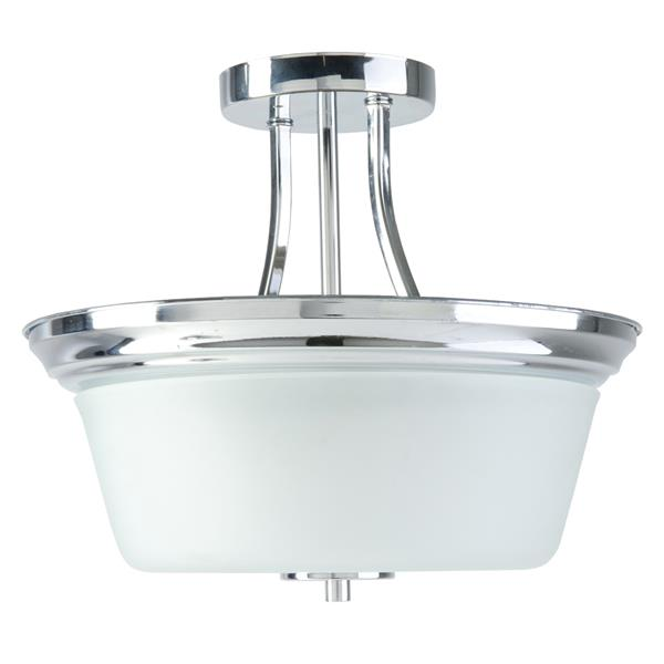 BELDI Markam Semi-Flushmount Light - Opal Glass - Chrome