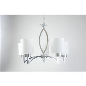 Markam Chandelier - 5 Lights - Glass - Chrome