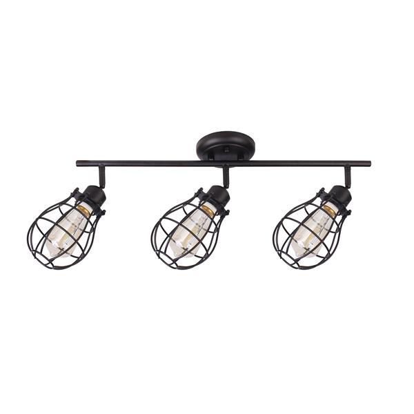 """Luminaire Lancy, 3 lumières, 8"""", noir"""