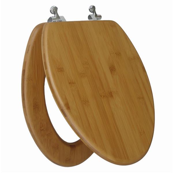 Prime Topseat Toilet Seat Elongated Nature Bamboo Customarchery Wood Chair Design Ideas Customarcherynet