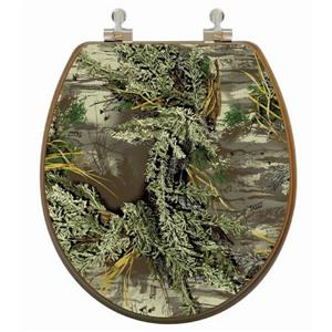Toilet Seat with High Res 3D Image - Round - Camouflage