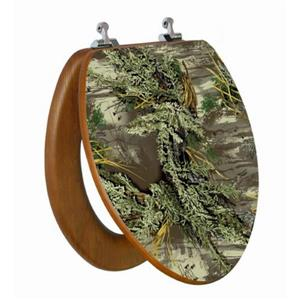 Siège de toilette avec image 3D, allongé, camouflage