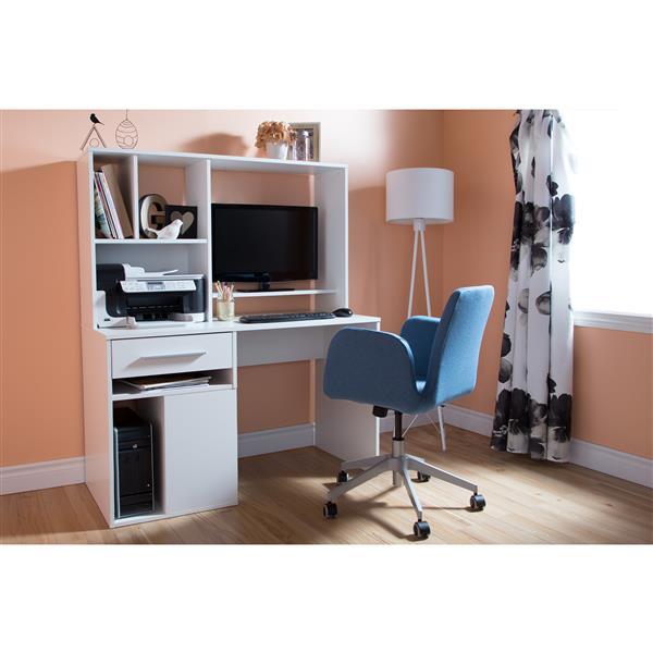 Bureau de travail pour ordinateur Annexe, blanc