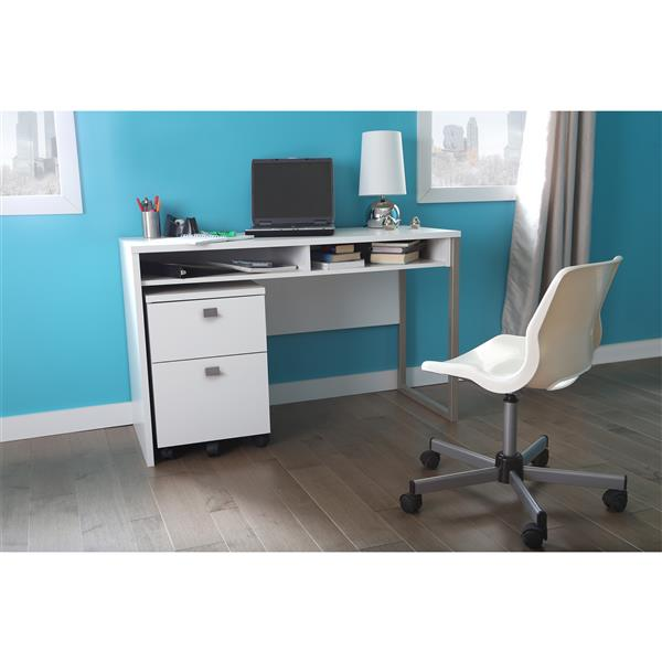 "Bureau de travail Interface, 47,4"" x 19,41"" x 29,5"", blanc"