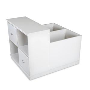 South Shore Furniture Mobby Mobile Storage Unit - 35.5-in x 41.5-in x 31.2-in - White