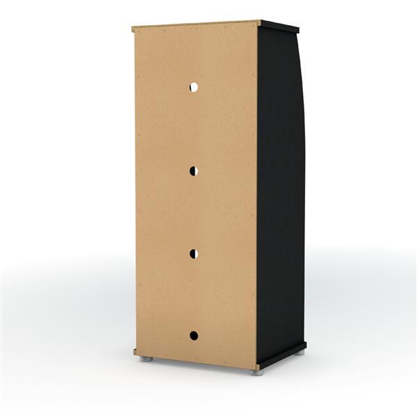 South Shore Furniture City Life 4-Shelf Bookcase - 21.5-in x 19.5-in x 51-in - Black