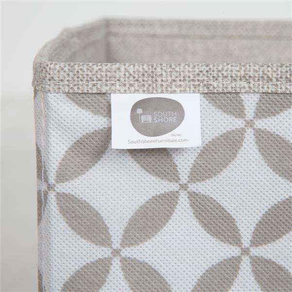 South Shore Furniture Storit Fabric Storage Baskets - Beige - 2-pk