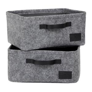 South Shore Furniture Storit Small Woven Felt Baskets - Gray - 2-pk