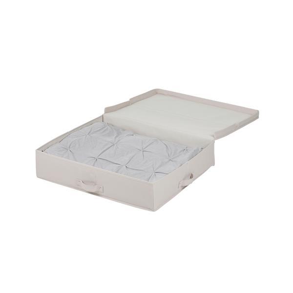 Boîte de rangement en toile sous le lit Storit, beige