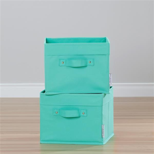 Paniers de rangement en toile Storit, bleu, 2 mcx