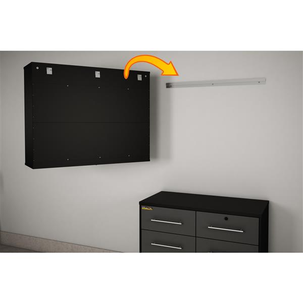 South Shore Furniture Wall Storage Cabinet - 38.25-in x 11.75-in x 31.75-in - Black