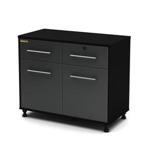 South Shore Furniture Base Cabinet - 38.25-in x 19.5-in x 35.25-in - Black