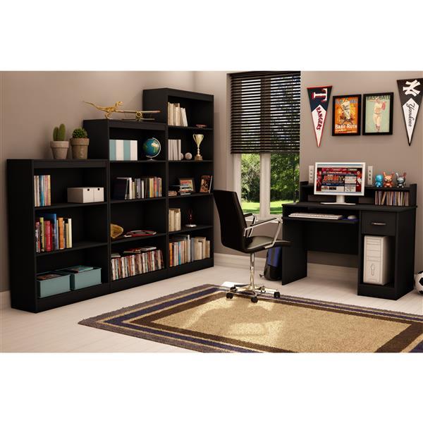 South Shore Furniture Axess 4-Shelf Bookcase - 28-in x 11.5-in x 56-in - Black